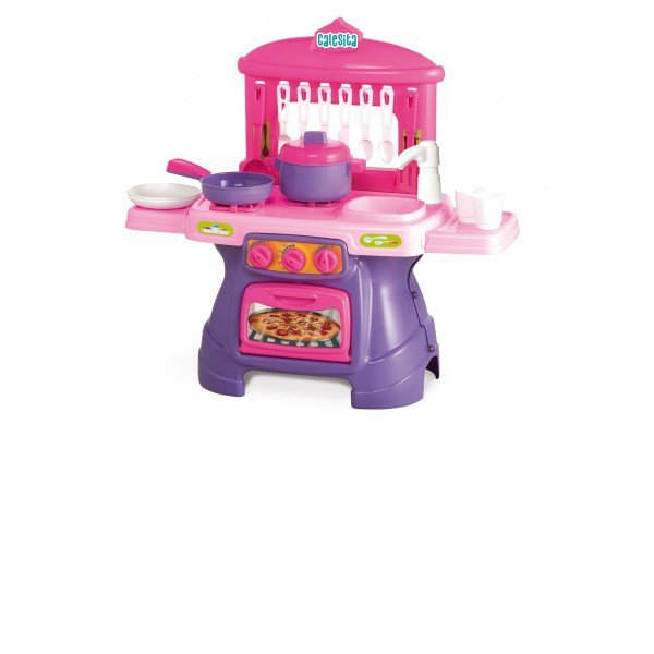 Cozinha Infantil Mini Chef Rosa Com Agua Calesita