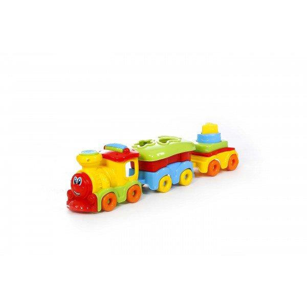 Brinquedo Didático Trenzinho Com Vagões Com Som - Maral