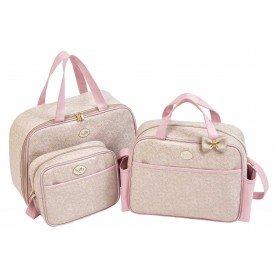 01018 01015 kit bolsa bege com rosa 3 pecas 789843149689 8 01