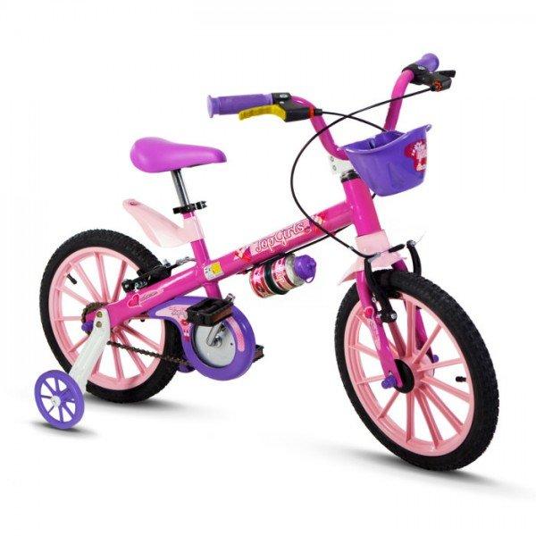 ae35f8dd7 Bicicleta Infantil Aro 16 Top Girls - Nathor - Rosa Roxa
