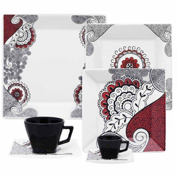 oxford porcelanas aparelho de jantar quartier boho 42 pecas 00