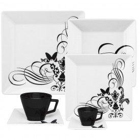 oxford porcelanas aparelho de jantar quartier tattoo 42 pecas 00