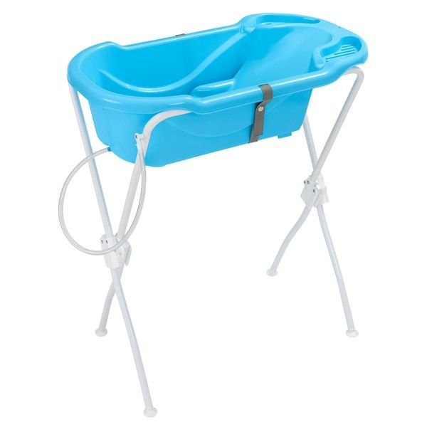 Banheira Ergonômica New Com Suporte - Tutti Baby Azul