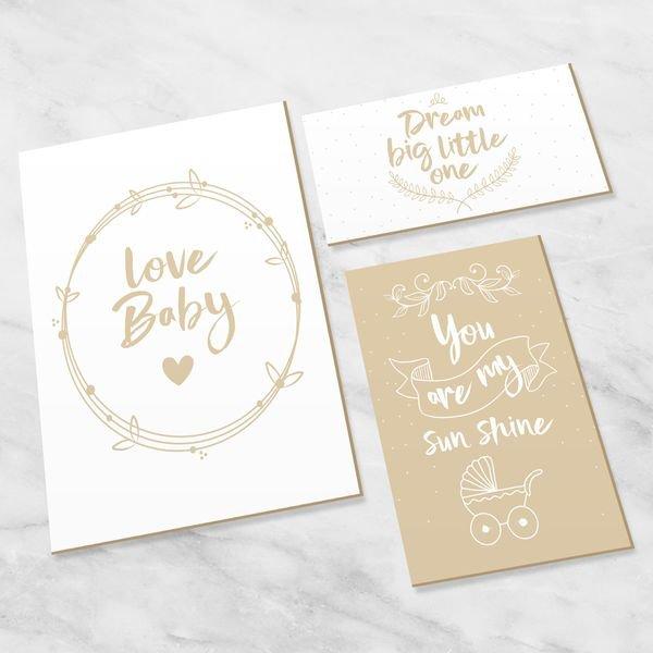 Quadro Para Quarto Bebê Decorativo Infantil Love Baby - Hugart