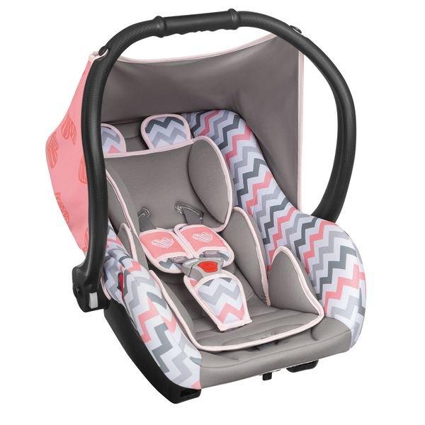 Bebê Conforto Cadeirinha Carro - Ello - Tutti Baby Rosa Bebê Listrado