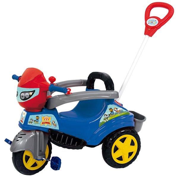 Carrinho De Passeio Ou Pedal Triciclo Baby City M-Patrol - Maral Azul