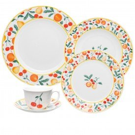 oxford porcelanas flamingo conjunto fruits 20