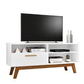 rack paladio para tvs ate 55 polegadas c 01 porta pes de madeira macica bechara branco 03