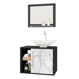 gabinete para banheiro baden com cuba e espelho bechara preto fosco carrara 02